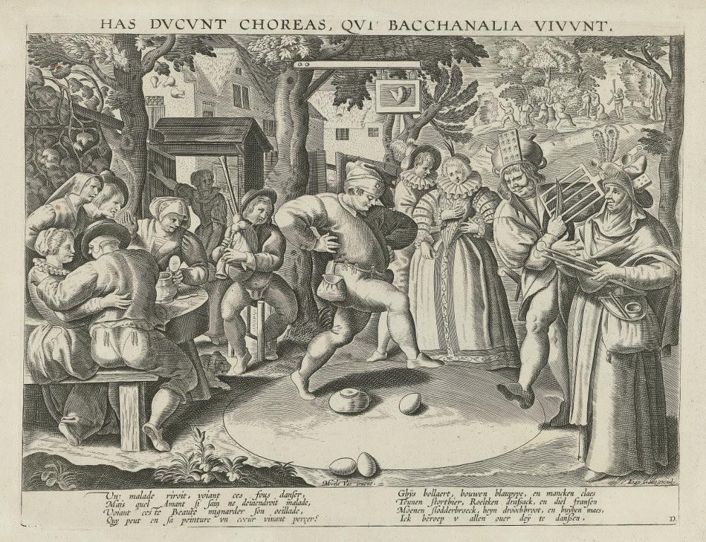 Ян Галл «Танец сяйцами», 1645. <br>